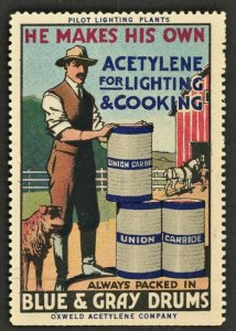1910s UNION CARBIDE ACETYLENE  - (US Poster Stamp)
