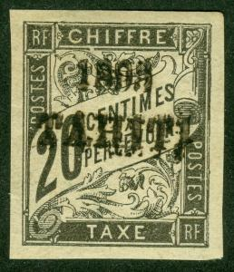 EDW1949SELL : TAHITI 1893 Scott #J21 VF Mint OG. Signed 'Carion, Paris' Cat $550