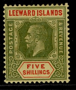 LEEWARD ISLANDS GV SG78, 5s green & red/pale yellow, LH MINT. Cat £50.