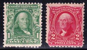 US STAMP #301 – 1903 2c Washington, carmine MNH/OG + #301 NG STAMPS