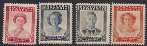 Southern Rhodesia 1947 KGV1 Set Victory UMM SG 64 - 67  ( K881 )