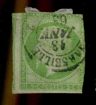 France #13 Used Fine Small tear Crease Paper HR Cat$85
