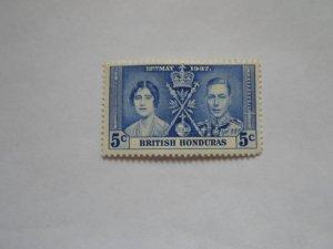 BRITISH HONDURAS STAMP USED NO HINGE # 2