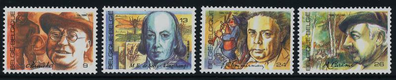 Belgium 1254-7 MNH Constant Permeke, Felix Timmermans, Maurice Careme