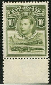 Basutoland SC# 28 (SG# 28) George VI & Crocodile, 10sh, MVLH
