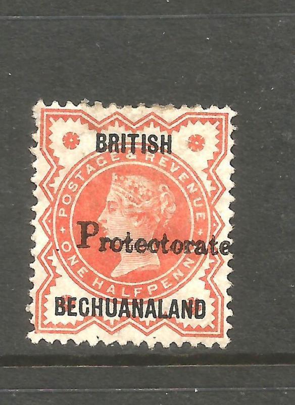 BRITISH BECHUANALAND  1890  1/2d  QV  MHH   SG 54