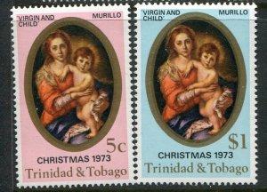 Trinidad & Tobago MNH 241-2 Christmas 1973