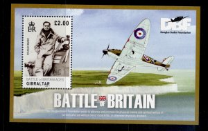 GIBRALTAR QEII SG MS1354, 2010 battle of britain mini sheet, NH MINT.