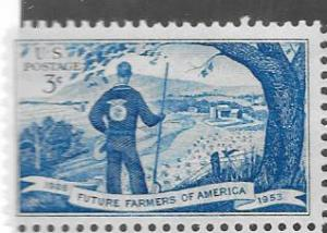 US #1024 3c Future Farmers   (MNH) CV $.25