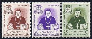 Netherlands Antilles 269-271,MNH.Msgr.Niewindt,apostolic vicar for Curacao,1960