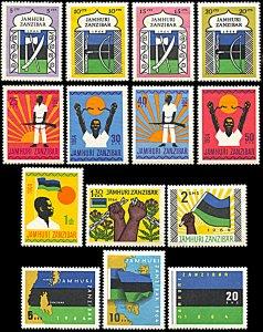 Zanzibar 305-318, Unused (LH), Republic Definitives