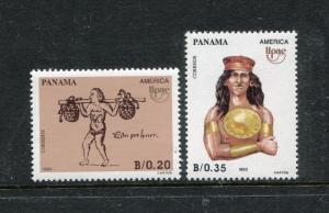 Panama 783-784, MNH, native American 1990. x26696