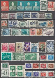 COLLECTION LOT OF # 1607 CHINA 52 STAMPS 1953+