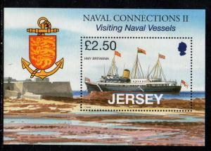 Jersey Sc 1333 2008 ‭HMY Britannia stamp sheet mint NH