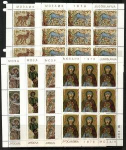 Yugoslavia Scott 1011-16 Mint NH mini-sheets (Catalog Value $27.90)