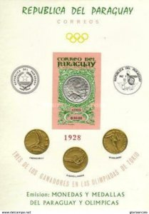 SW1468 - Paraguay  - 1965 Medals of the Olympic Games Tokyo 1964 Minisheet