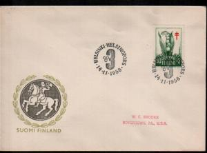 Finland B148 Lily of the Valley Anti-Tuberculosis Society Cover
