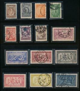 Griechenland 184-197 Gebraucht Olympische Jahrestag Cpl. Set 1906