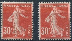 [I1418] France 1921/22 good stamps (2) very fine MH $20