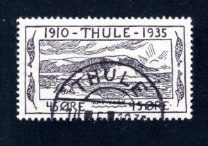 Greenland, Thule, #YV5,  Local Post, VF, Used, CV $3.50 ....2510266/7