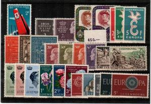 Luxembourg Scott 314 // 375 Mint NH complete sets (Catalog Value $33.30)