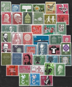 COLLECTION LOT OF 43 GERMANY MNH 1956+ STAMPS