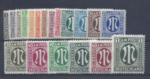 Germany (AMG), 3N1-3N20, Occupation Stamps Singles, **MNH**, (LL2019)