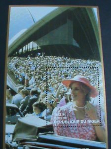 NIGER STAMP 1997 PRINCESS OF WALES-LADY DIANA-REMEMBER ALWAYS-MNH S/S-EST, $4