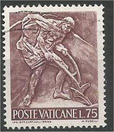 VATICAN CITY, 1966, used 75 l, Enrico Manfrini, Scott 430