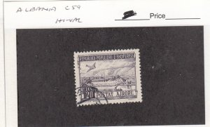 J26054  jlstamps 1950 albania hv of set used #c59 airplane view , all checked