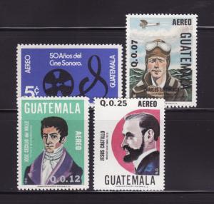 Guatemala C740, C742-C744 MNH Various (C)