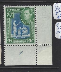 ST VINCENT  (PP3006B)  KGVI   4C   PL 1    SG 167A       MNH