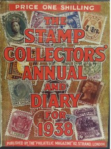Vintage Stamp Collectors annual and Diary for 1938