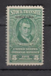 J25695 JLstamps 1943 united states mh #rd154, 5$ stock tramsfer