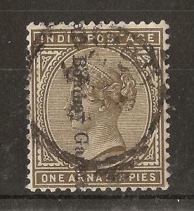 India 1882 1a6p Bombay Gazette Cancel