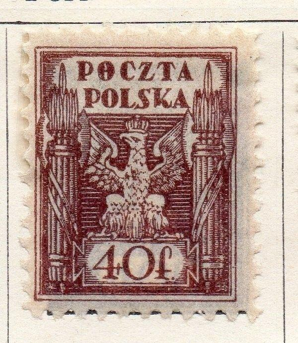 Poland 1922 Early Issue Fine Mint Hinged 40f. 133522