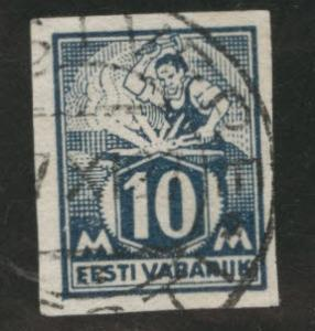 Estonia Scott 64 used imperforate stamp  1922 C V$16