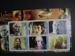 Congo Stamp:2001-Lord Of the Ring MNH full Stamp sheet