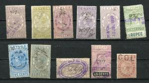 British Commonwealth Revenues  CEYLON  1872 and up Accumulation Used 7068