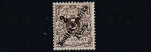 GERMAN EAST AFRICA  1896 - 99 S G 7  2P ON 3PF   GREY BROWN    NO GUM