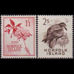 NORFOLK IS. 1961 - Scott# 36-7 Flowers 1.1-2s LH
