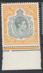BERMUDA 1938 KGVI 12/6 PERF 13