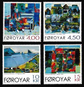 Faroe Is. Paintings by Zacharias Heinesen 4v SG#415-418 SC#397-400