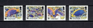 ASCENSION ISLAND - 2007 - ANGELFISH - SCOTT 904 TO 907 - MNH