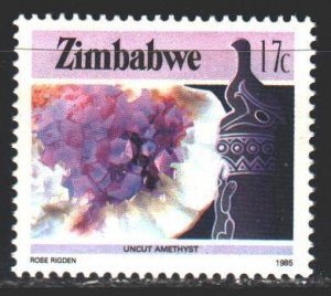 Zimbabwe. 1985. 318A from the series. Minerals, geology. MNH.