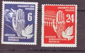 J22485 Jlstamps 1950 germany ddr part of set mnh #71,74 dove