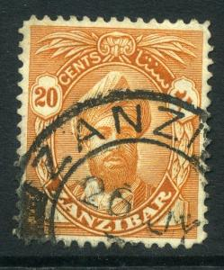 ZANZIBAR;  1936 early Sultan issue fine used value 20c.