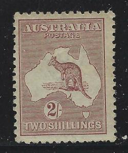 Australia 1913 2/ Brown Kangaroo Sc# 11 mint