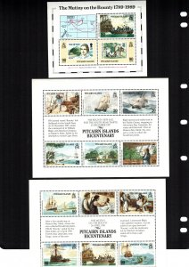 Pitcairn islands  320 - 322  MNH cat $  27.40 aaaa
