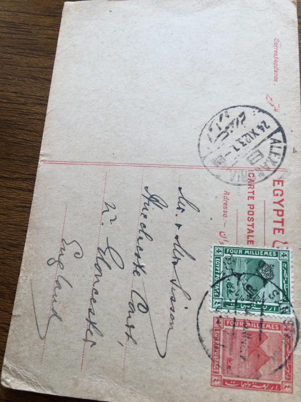 Egyptian Postcard 1923